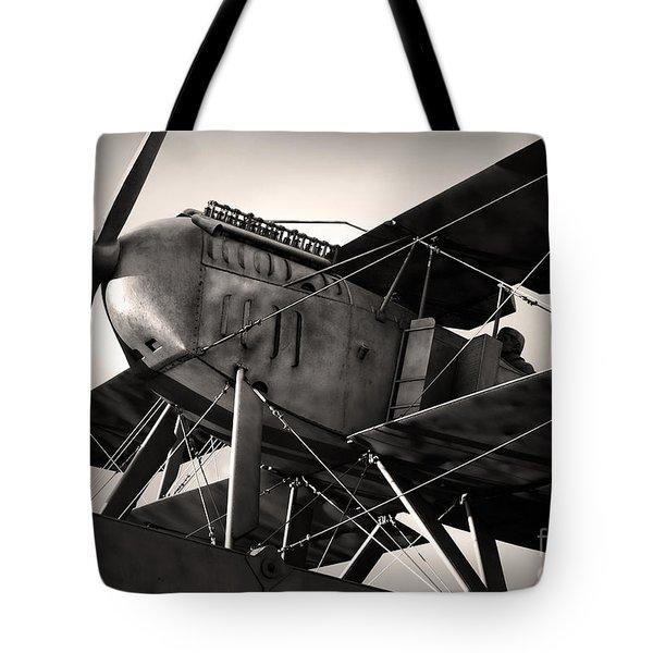 Biplane Tote Bag by Carlos Caetano