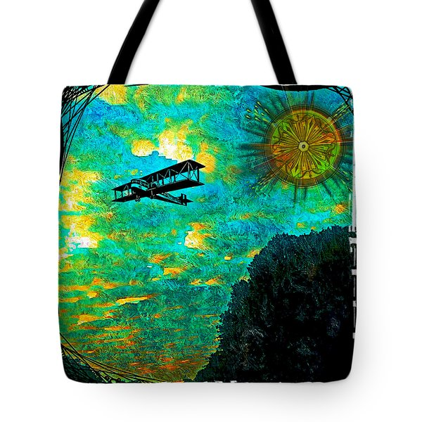 Biplane Tote Bag by Iowan Stone-Flowers