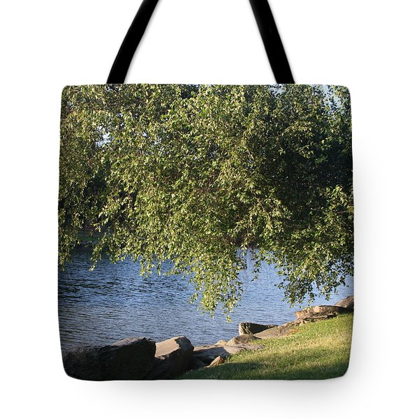 Tote Bag featuring the photograph Birch And Lake by Vadim Levin