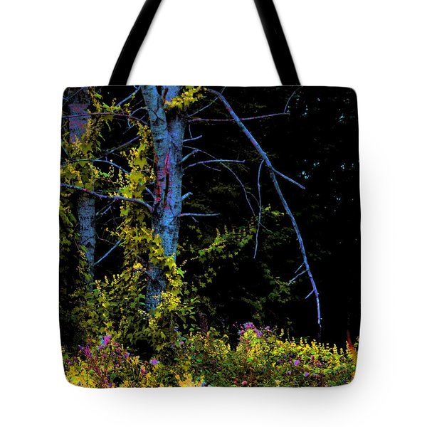 Birch And Vines Tote Bag by Joanne Smoley
