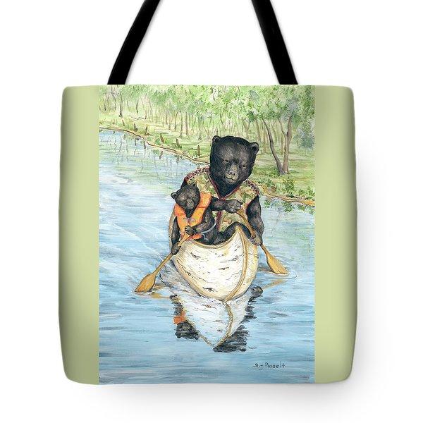 Birch Bark Canoe Tote Bag