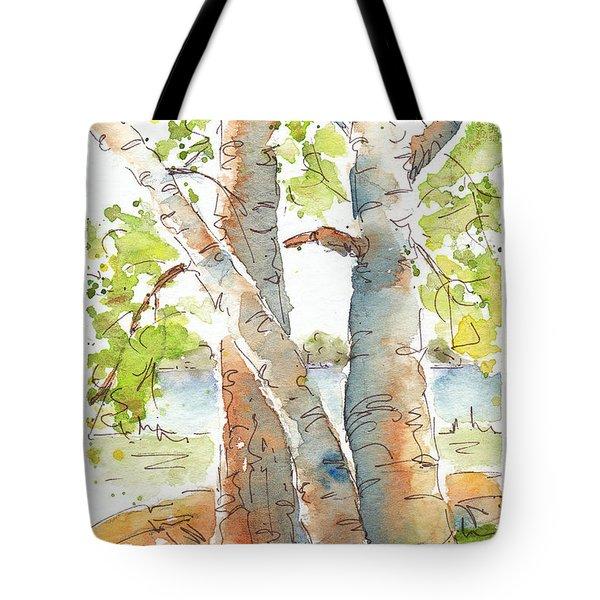 Birch Buddies Tote Bag