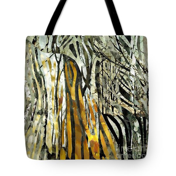 Birch Forest Tote Bag by Sarah Loft