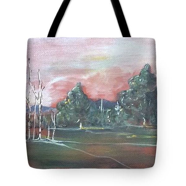 Birch Grove Tote Bag by Pat Purdy