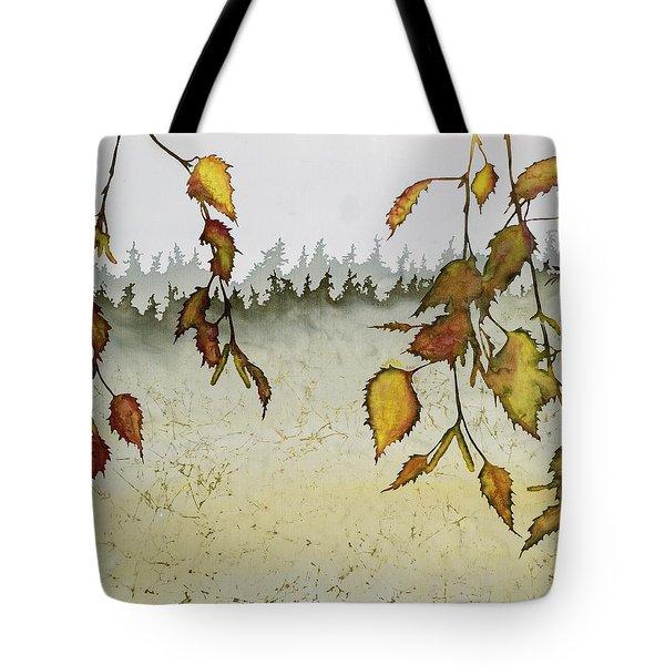 Birch In Autumn Tote Bag