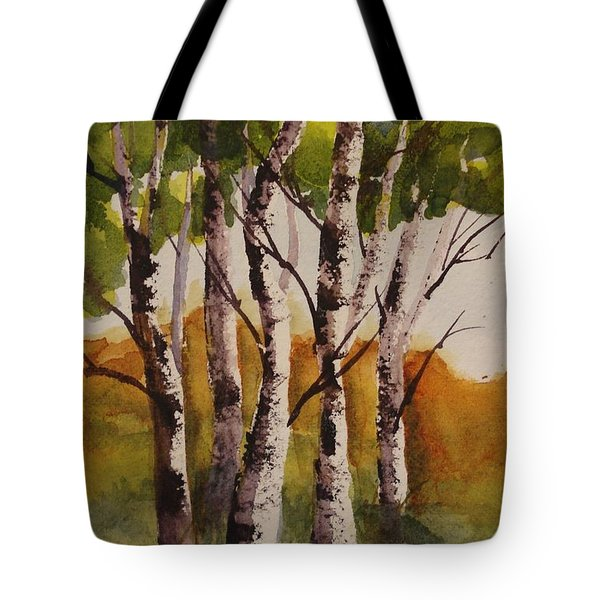Birch Tote Bag by Marilyn Jacobson