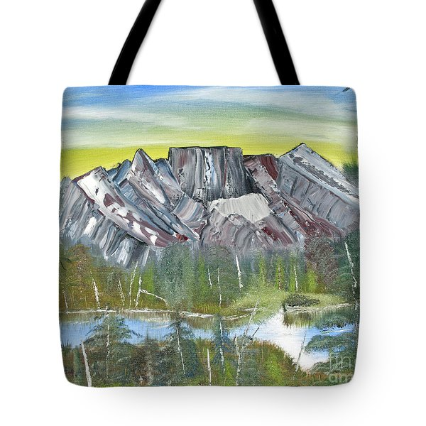 Birch Mountains Tote Bag