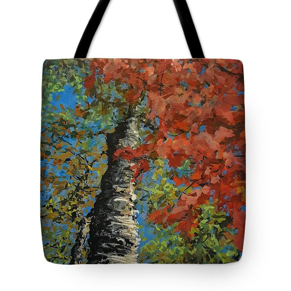 Birch Tree - Minister's Island Tote Bag