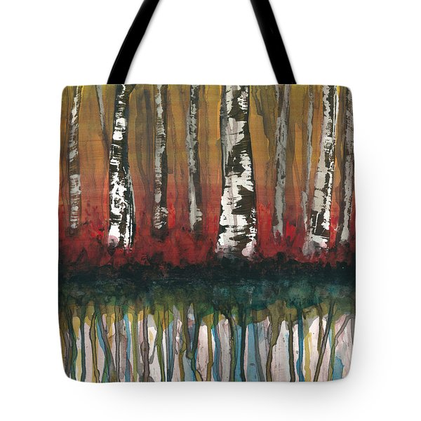 Birch Trees #2 Tote Bag by Rebecca Childs