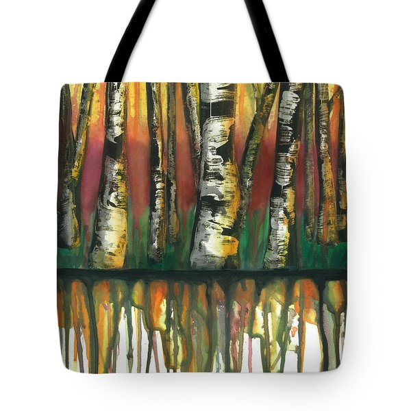 Birch Trees #6 Tote Bag by Rebecca Childs