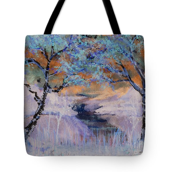 Birch Trees On The Ridge 2 Tote Bag