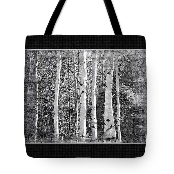 Tote Bag featuring the photograph Birch Trees by Susan Kinney