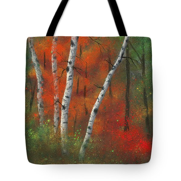 Birches II Tote Bag