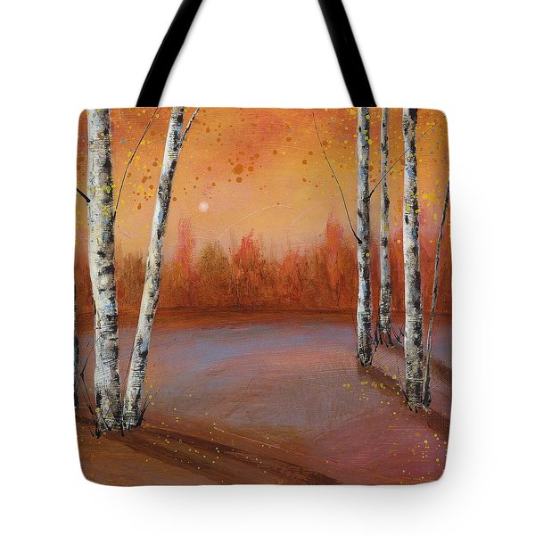Birches In The Fall Tote Bag
