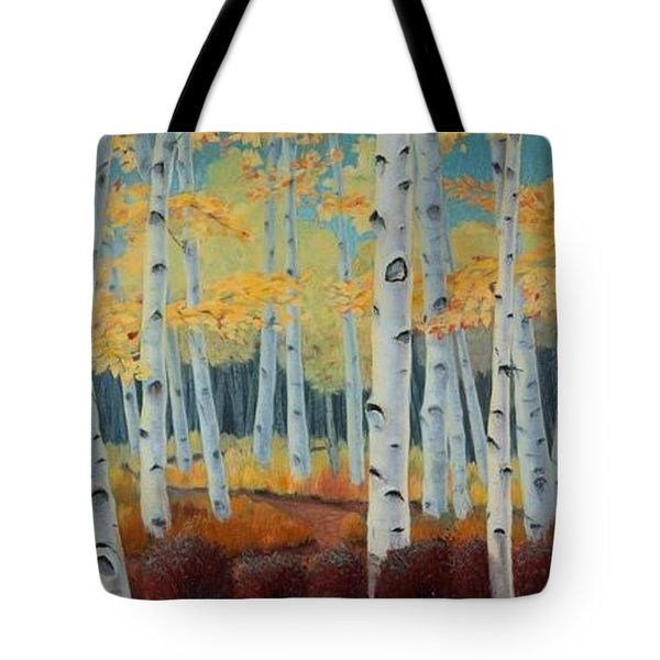 Birchwood Forest Tote Bag