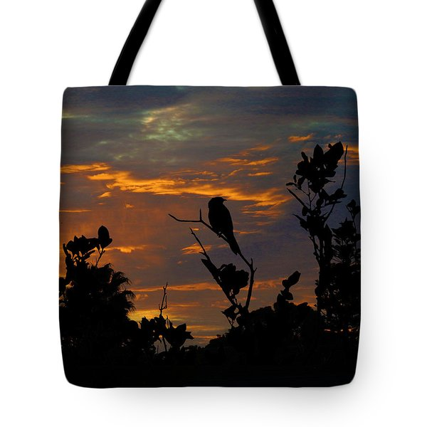 Bird At Sunset Tote Bag by Mark Blauhoefer