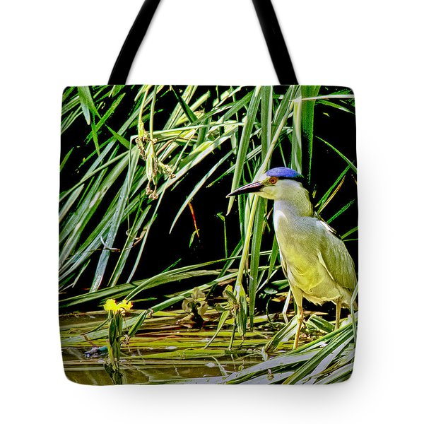 Tote Bag featuring the photograph Bird Blind by Joseph Hollingsworth