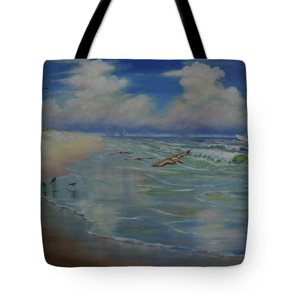 Tote Bag featuring the painting Bird-brains by Dorothy Allston Rogers