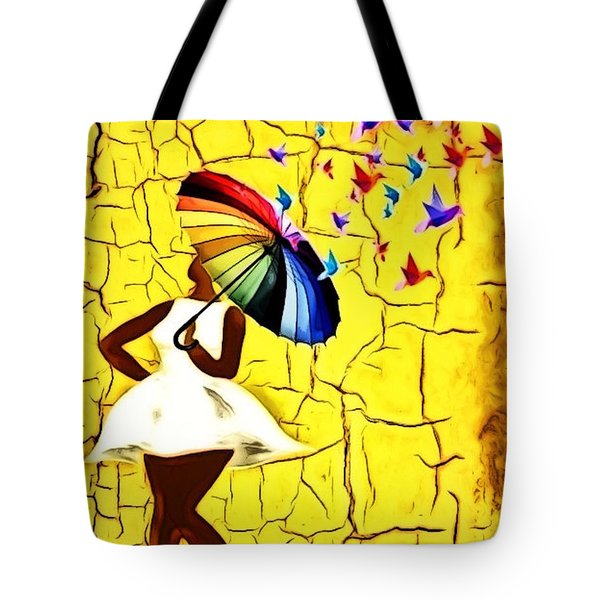 Bird Brella Tote Bag