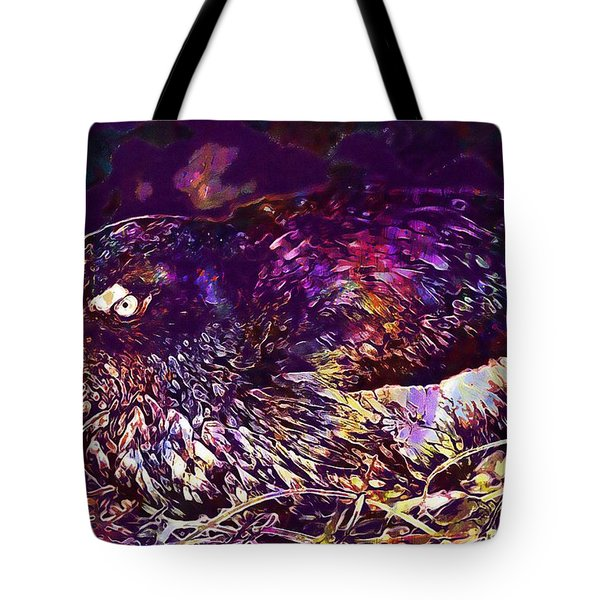 Bird Cassins Auklet Crested Birds  Tote Bag