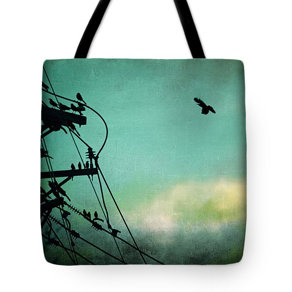 Tote Bag featuring the photograph Bird City Revisited by Trish Mistric