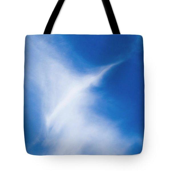 Tote Bag featuring the photograph Bird Cloud by Yulia Kazansky