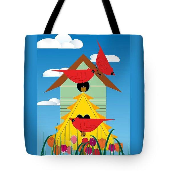 Bird Condo Tote Bag