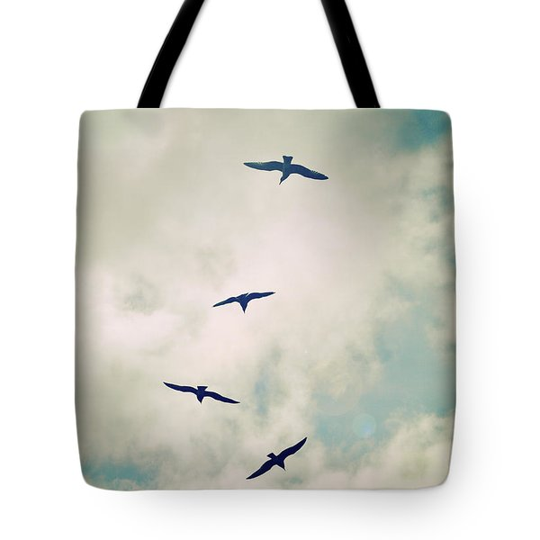 Tote Bag featuring the photograph Bird Dance by Lyn Randle