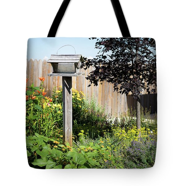 Bird Feeder Tote Bag