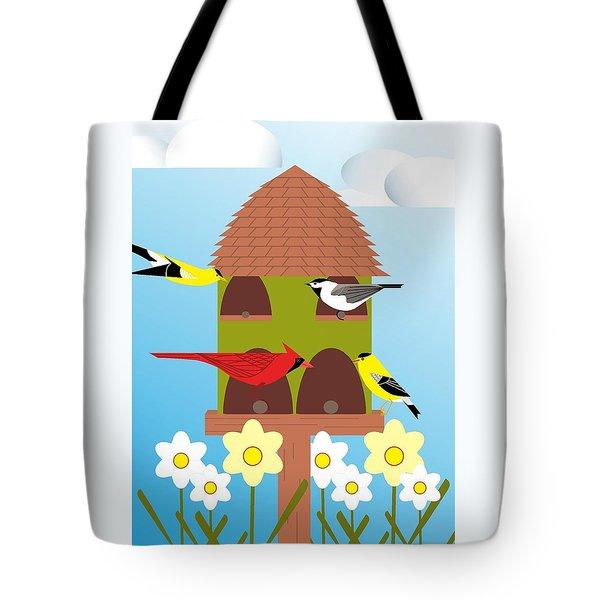 Bird Feeder Tote Bag