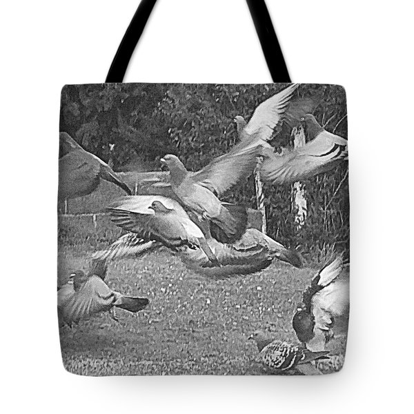 Tote Bag featuring the photograph Bird Flurry by Suzy Piatt