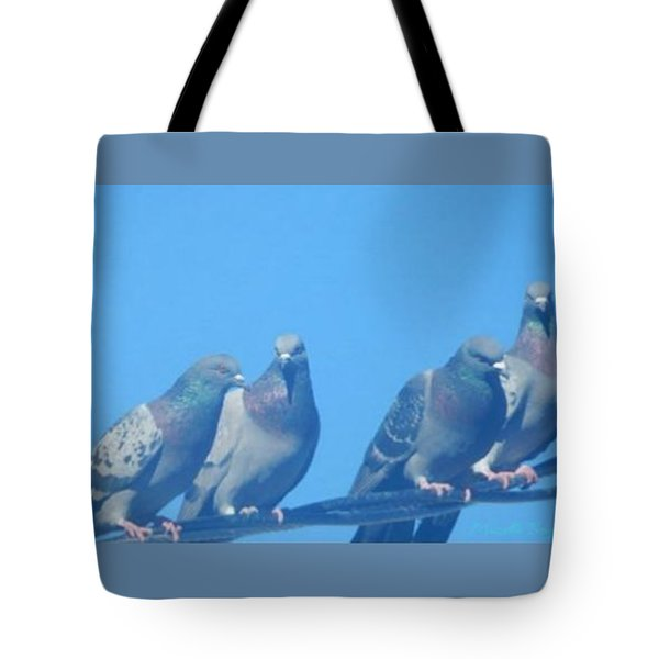 Bird Gossip Tote Bag