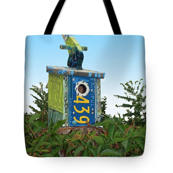 Bird House 439 Tote Bag