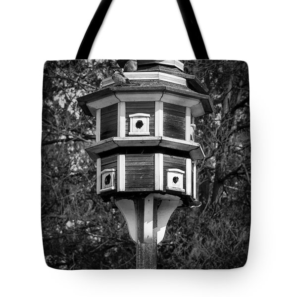 Bird House Tote Bag by Jason Moynihan