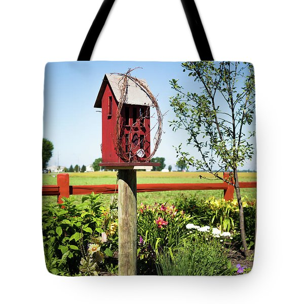 Bird House Tote Bag