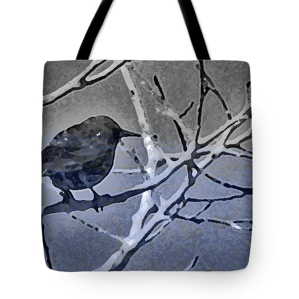 Bird In Digital Blue Tote Bag