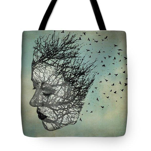 Bird Lady Tote Bag by Diana Boyd