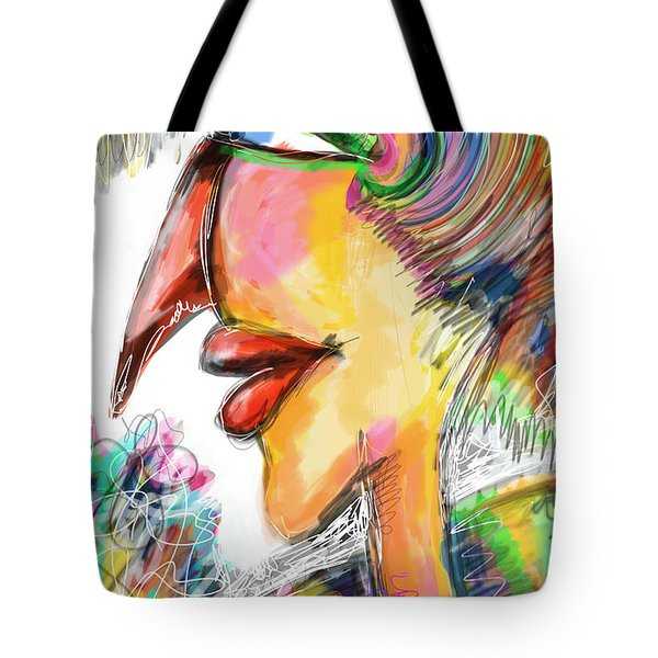 Bird Lady  Tote Bag by Sladjana Lazarevic