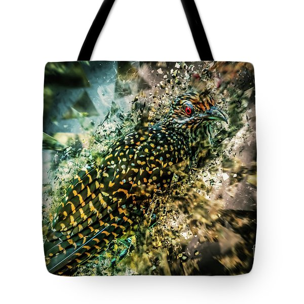 Bird Meets Glass Tote Bag