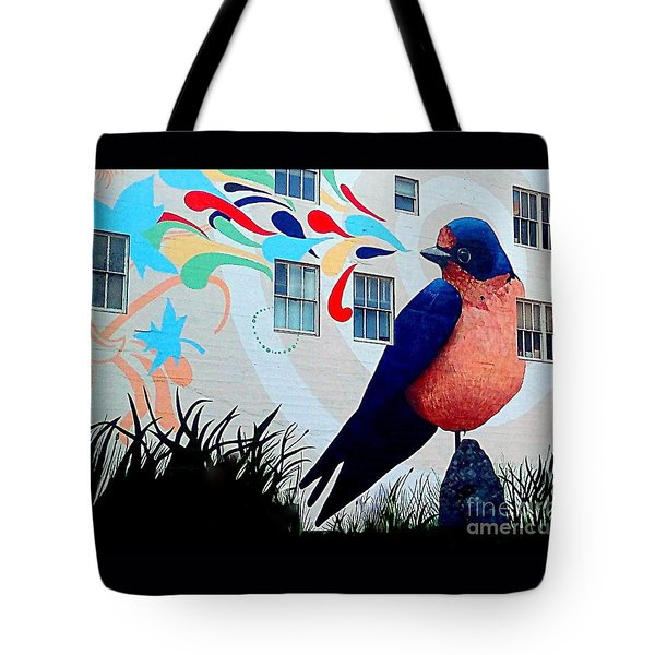 San Francisco Blue Bird Painting Mural In California Tote Bag