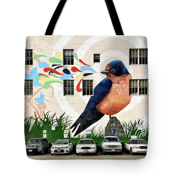 Bird Mural Tote Bag by Julie Gebhardt