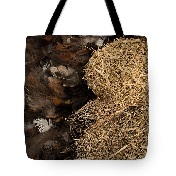 Bird Nest And Feathers Tote Bag