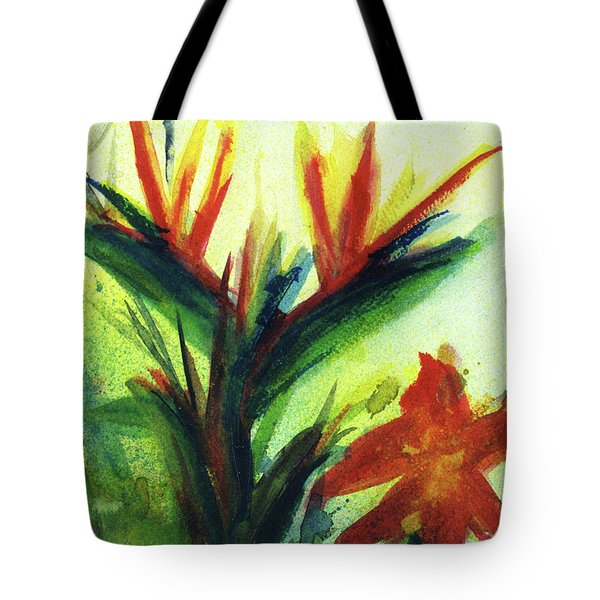 Bird Of Paradise, #177 Tote Bag by Donald k Hall