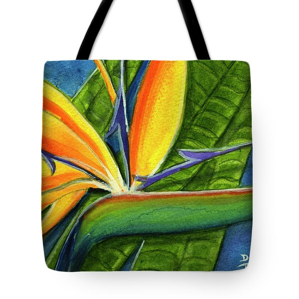 Bird Of Paradise #300b Tote Bag by Donald k Hall