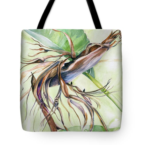 Bird Of Paradise, A Faded Beauty Tote Bag