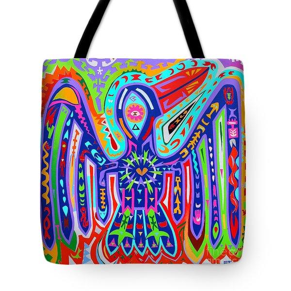 Bird Of Paradise Tote Bag by Ed Tajchman