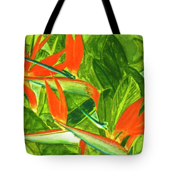 Bird Of Paradise Flower #55 Tote Bag by Donald k Hall