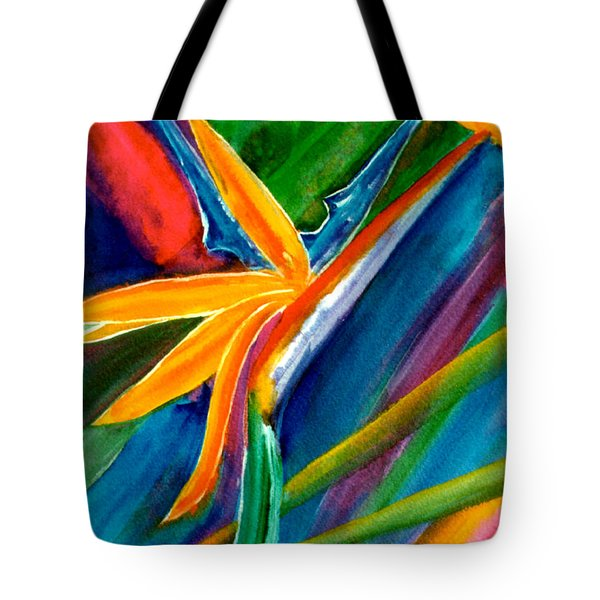 Bird Of Paradise Flower #66 Tote Bag by Donald k Hall