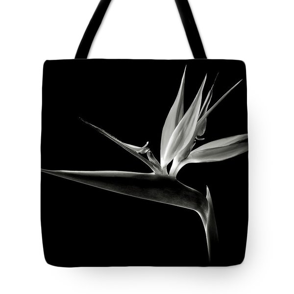 Bird Of Paradise In Black And White Tote Bag