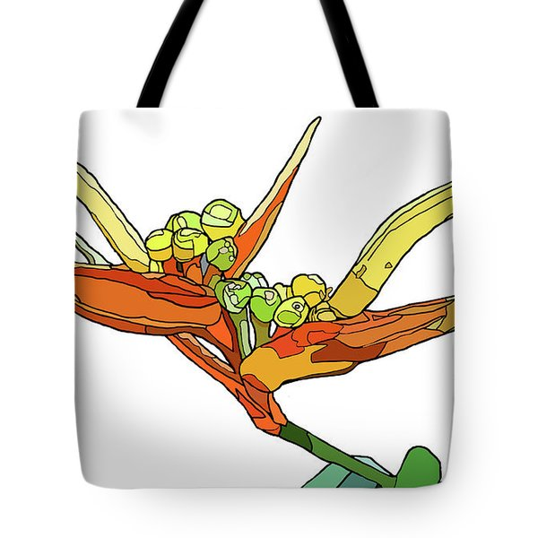 Bird Of Paradise Tote Bag by Jamie Downs